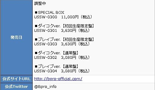 "「B-PROJECT」2nd アルバム""B with U""の発売日が延期。発売日は調整中に"